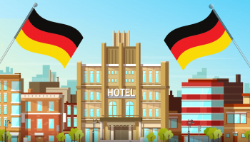 hotel with german flags